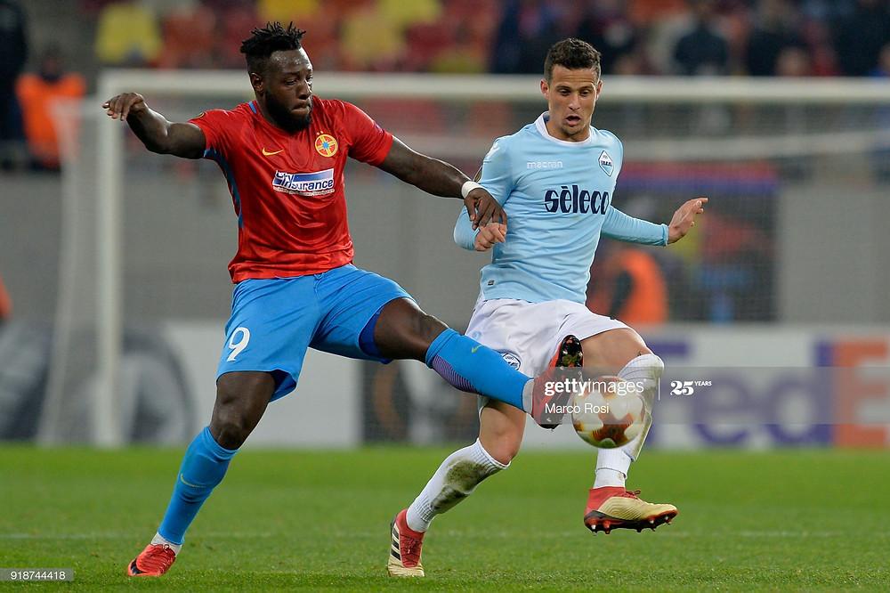 Harlem Gnohéré, ici face à Luiz Filipe (Lazio) a disputé la Ligue Europa avec le Steaua - Getty Images