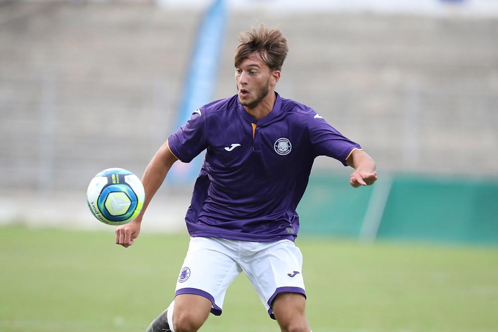 Killian Corredor avec les U19 toulousains - Crédit : Toulouse FC