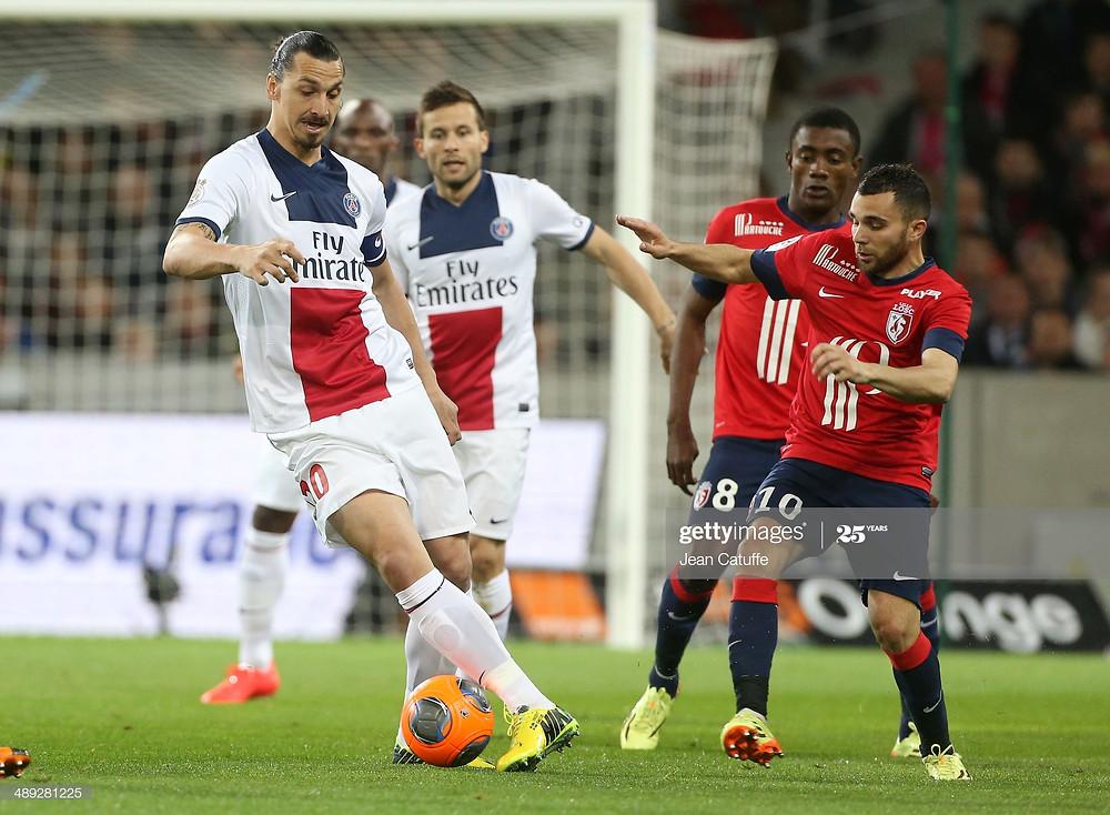 Marvin Martin au duel avec Zlatan Ibrahimovic - Getty Images