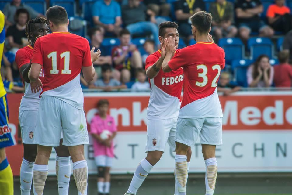 L'AS Monaco s'est imposé en amical. La joie des monégasques.