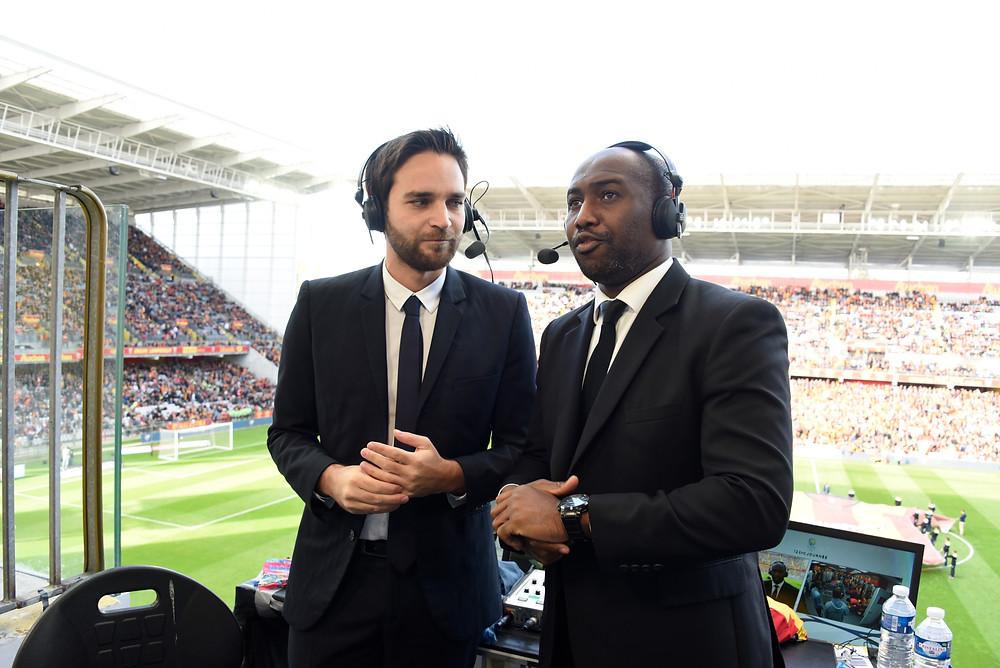 Robert au côté de Samuel Ollivier lors d'une rencontre au stade Bollaert-Delelis (PANORAMIC)