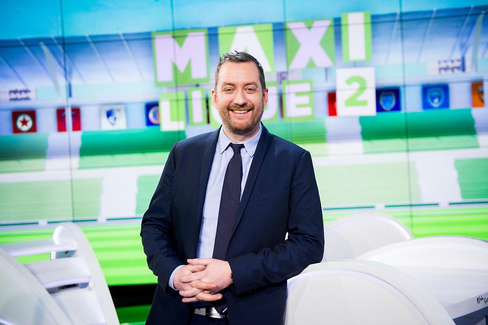 Richard Sette sur le plateau de Maxi Ligue 2 (Crédit : beIN SPORTS)