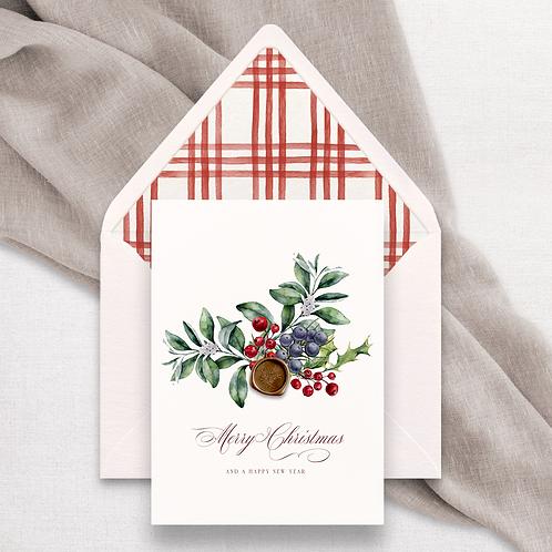 4 x Christmas Card | Merry Christmas
