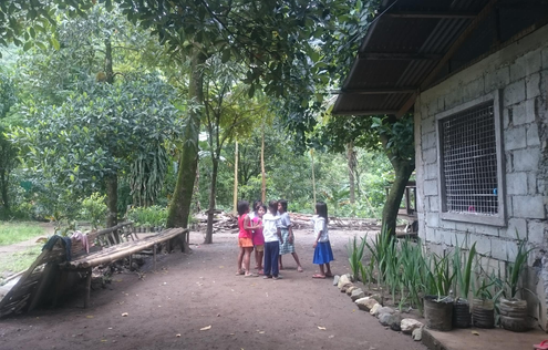 Children playing after school