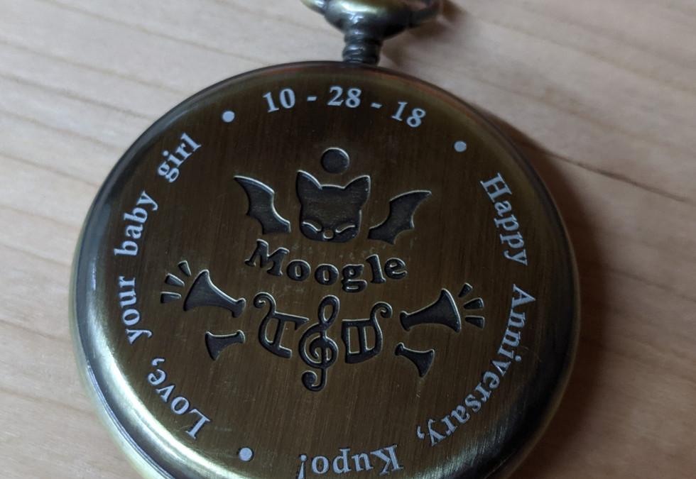 Anniversary Pocket Watch Engraving
