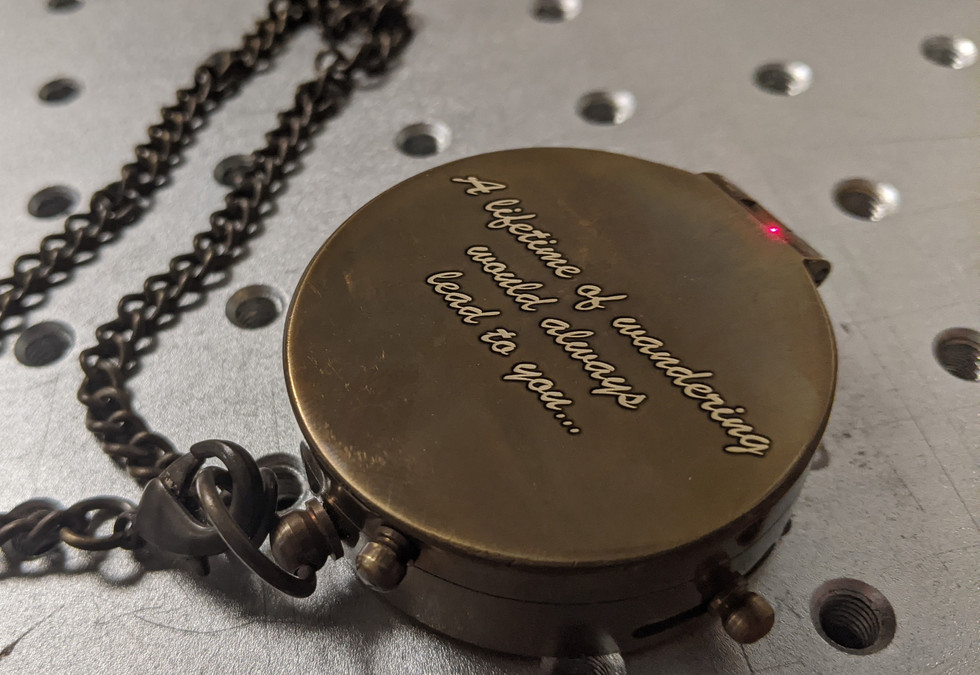 Anniversary Compass Engraving