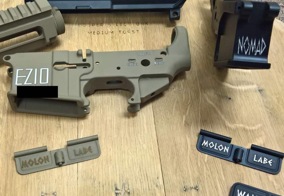 AR-15 Lower Receiver and Dust Cover Engraving