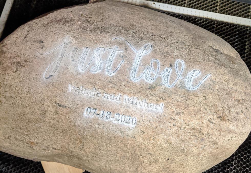 Anniversary Garden Stone Engraving