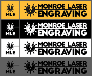 Monroe Laser Engraving Logo in different formats.