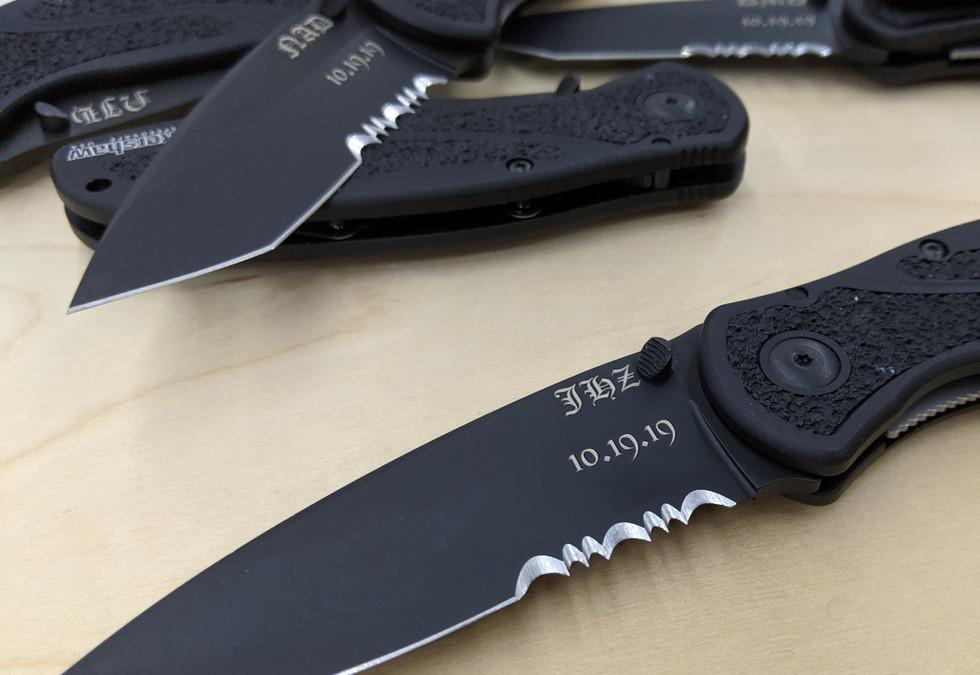 Groomsmen Knives Engraving