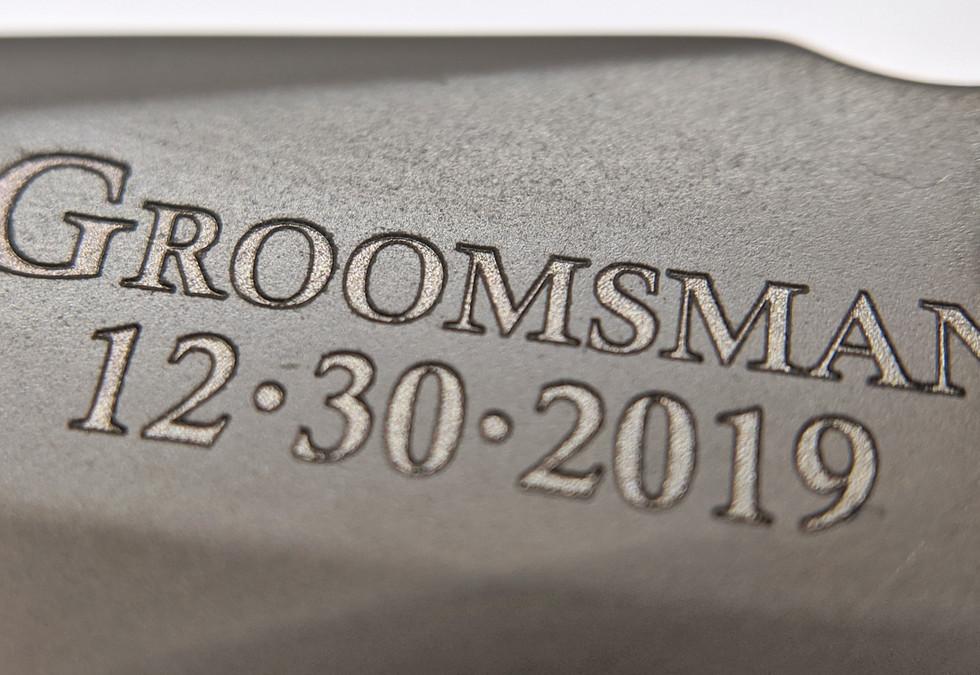 Groomsman Knife Engraving