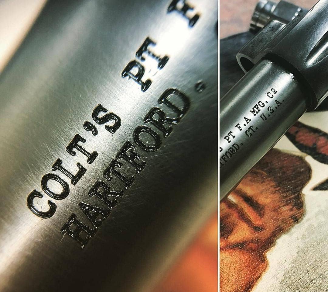 Colt Restoration Gun Project   Monroe County's BEST Laser Engraver