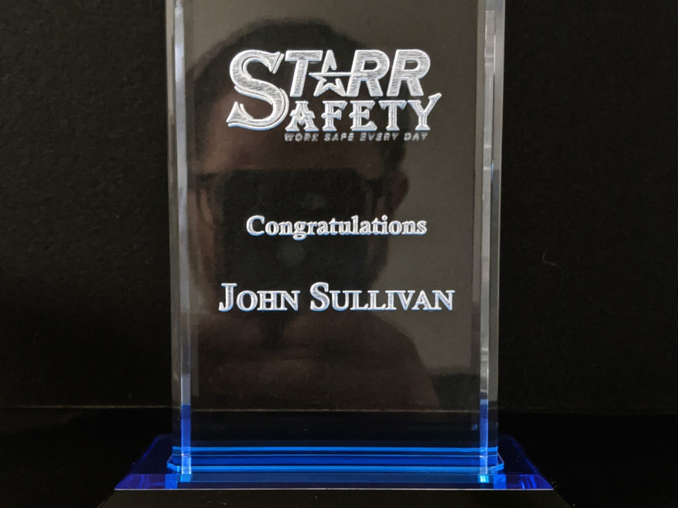 Acrylic and Glass Engraved Awards