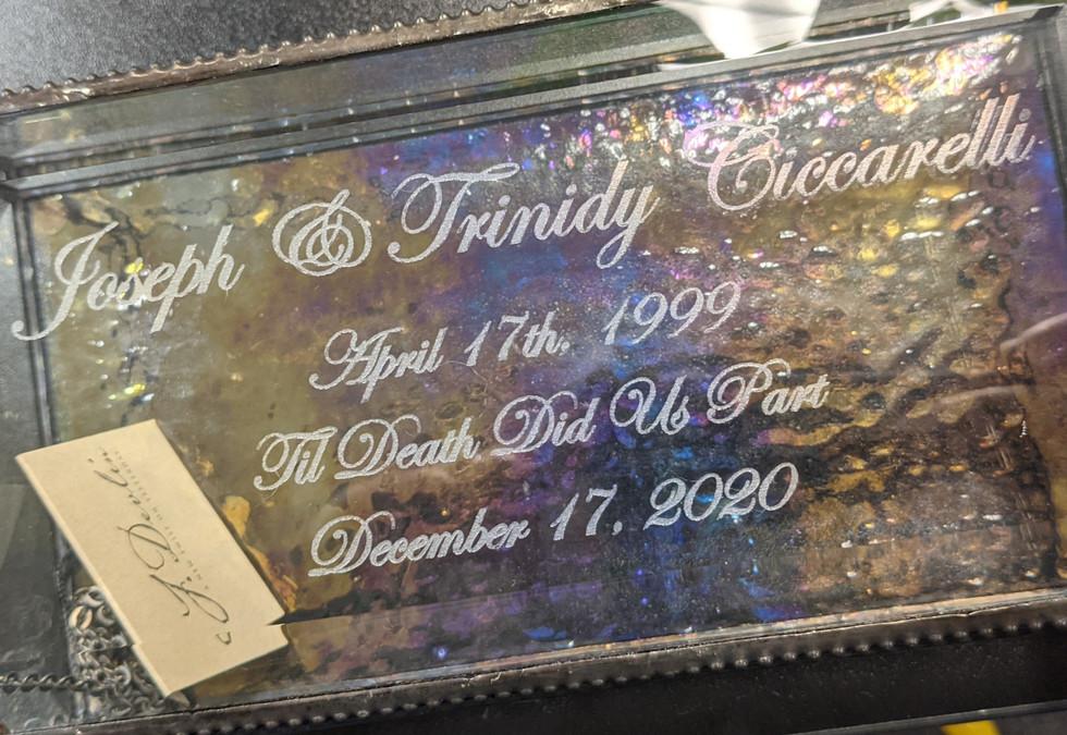 Memorial Jewelry Box