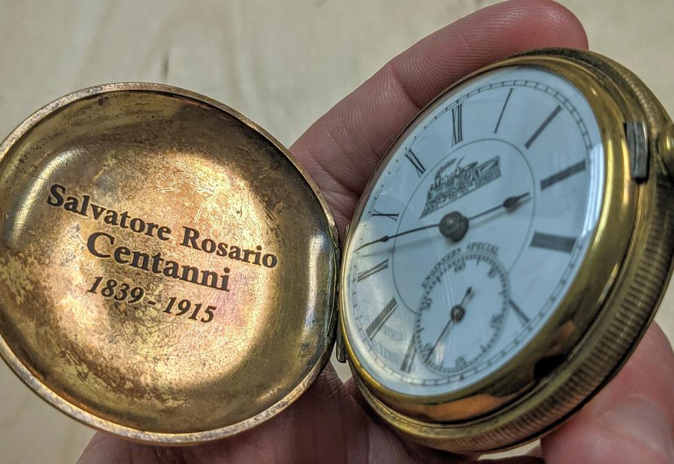 Engraved Memorial Pocket Watch