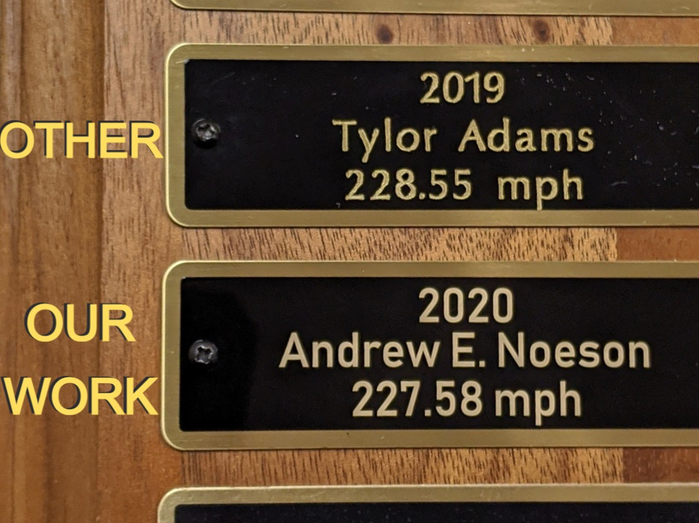 Compare These Plaques!