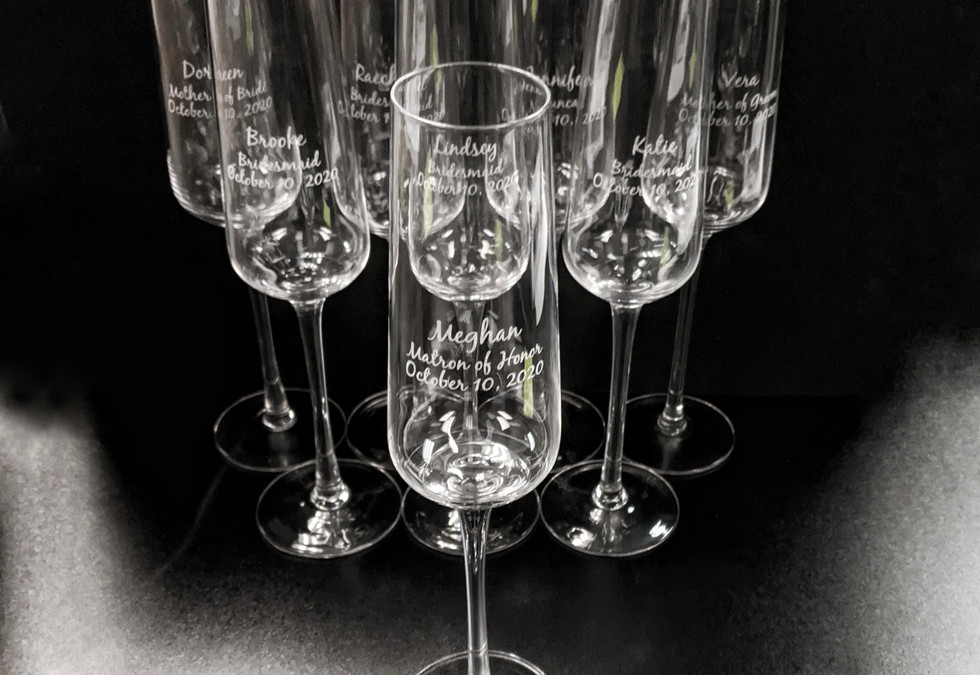 Bridesmaid Chapagne Glass Engraving
