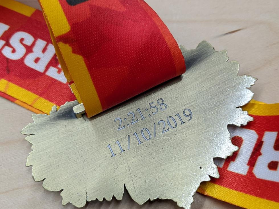 Marathon Brushed Medal
