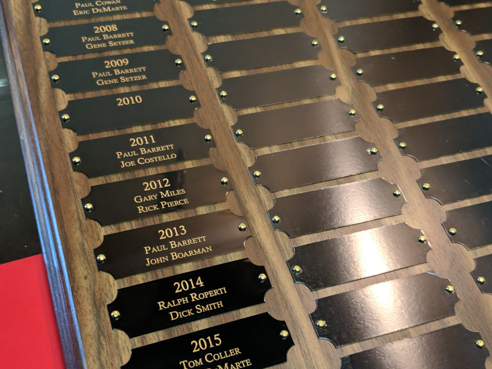 Black Lacquer Plaques and Award Boards