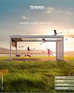 Billede af brochuren Renson Outdoor produkter 2019.