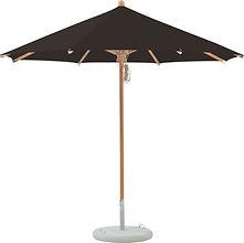 Billede af en Glatz parasol i træ.
