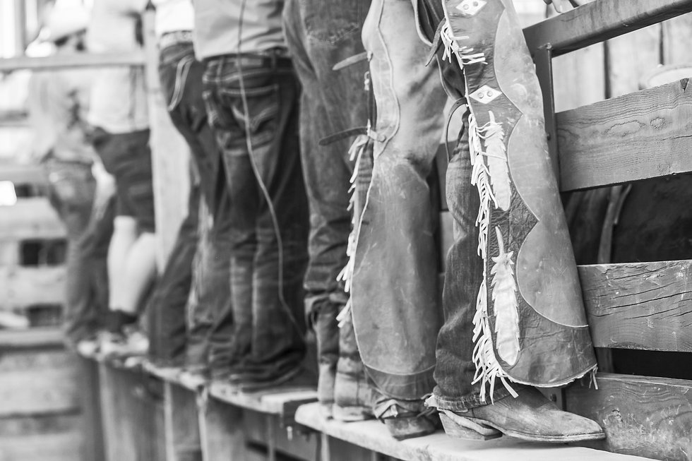 bigstock-Row-Of-Rodeo-Cowboys-Standing--