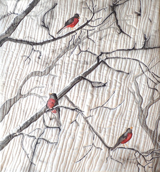 Robins in the Snow, 2019