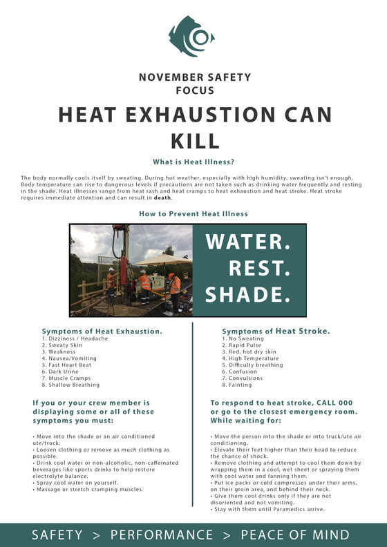 HEAT EXHAUSTION CAN KILL