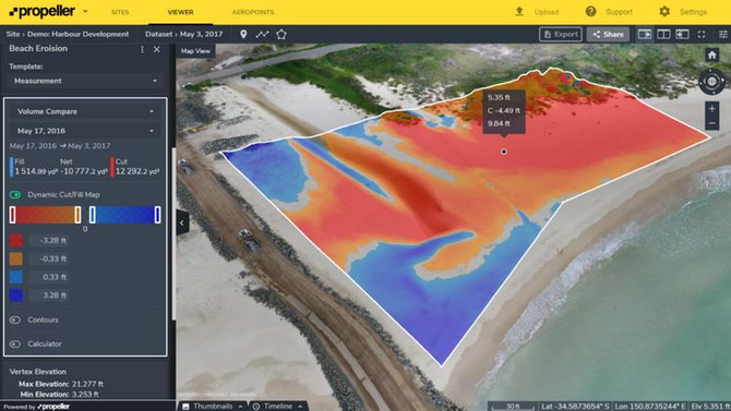 Drone Monitoring for Erosion Assessment