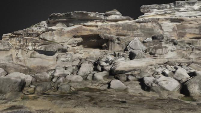 Coastal Cliff Face - 3D Model