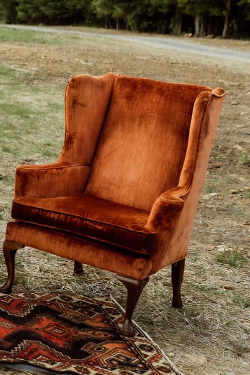 Burnt Orange Vintage Chair