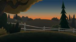 fencebg sunset
