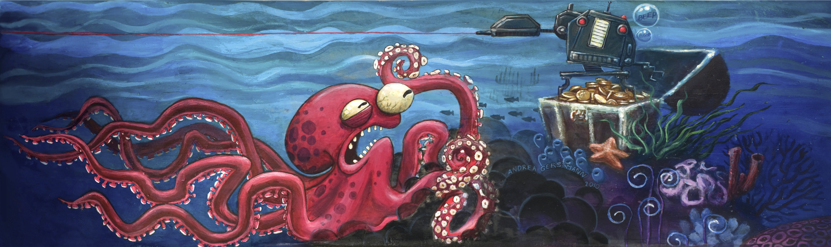 Octopus vs Robot