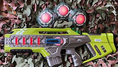 Lasergamen - lasergeweer en targets