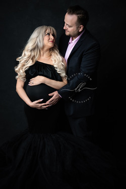 Maternity Couple Black Gown Luxury Dayto
