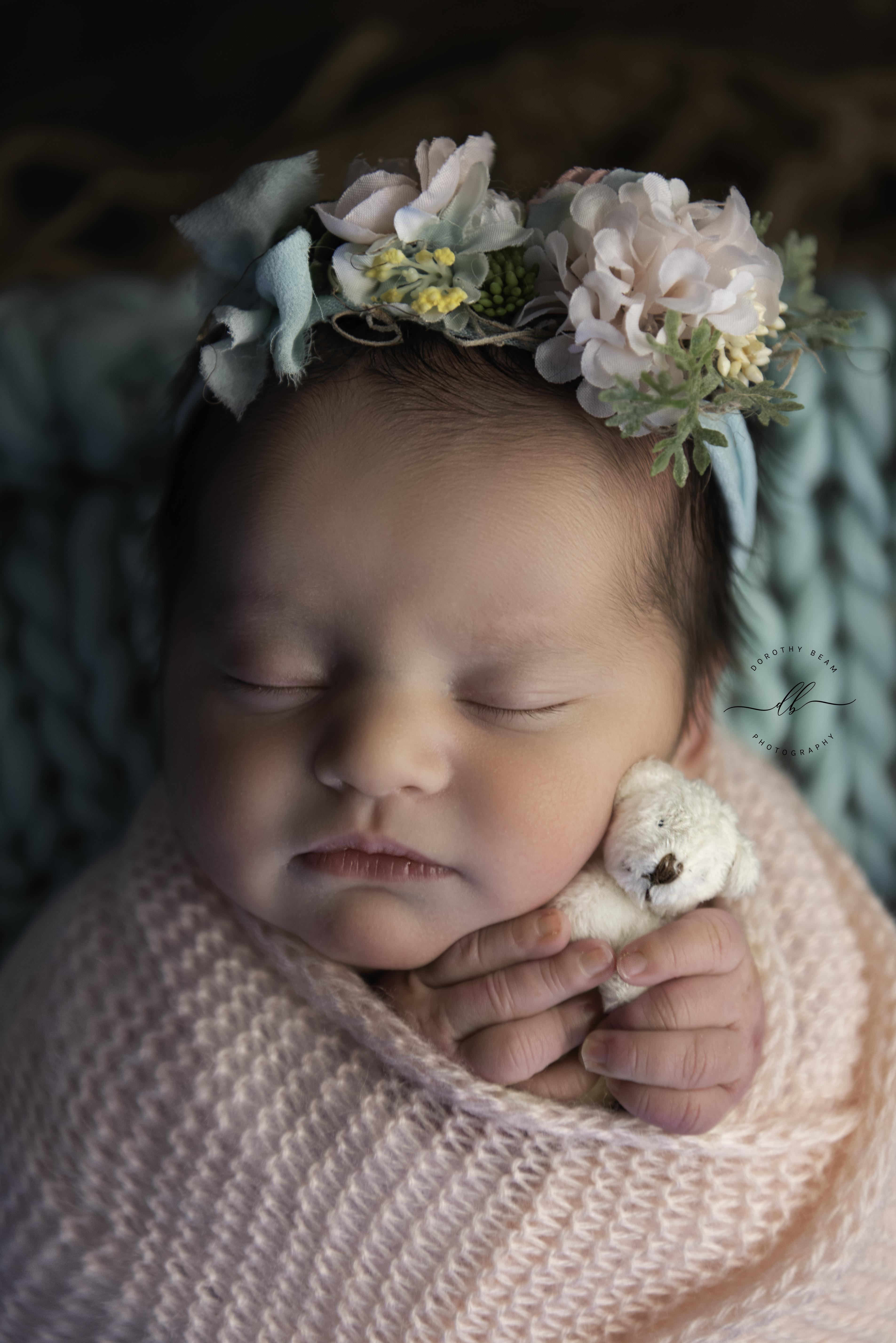Girl Newborn Potato Sack Mint Pink