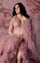 Pink Blush Robe Fine Art Mommy to Be Mat