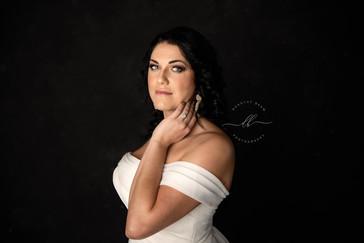 Woman Close Up Wedding Dress Portrait St