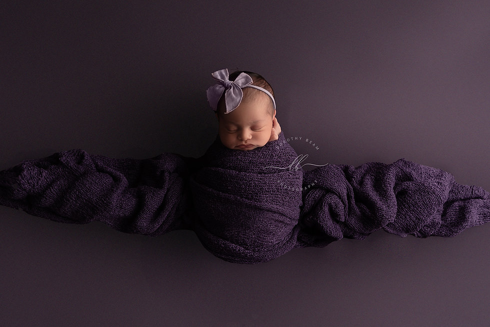 Newborn Baby Girl Purple Wrapped Dayton