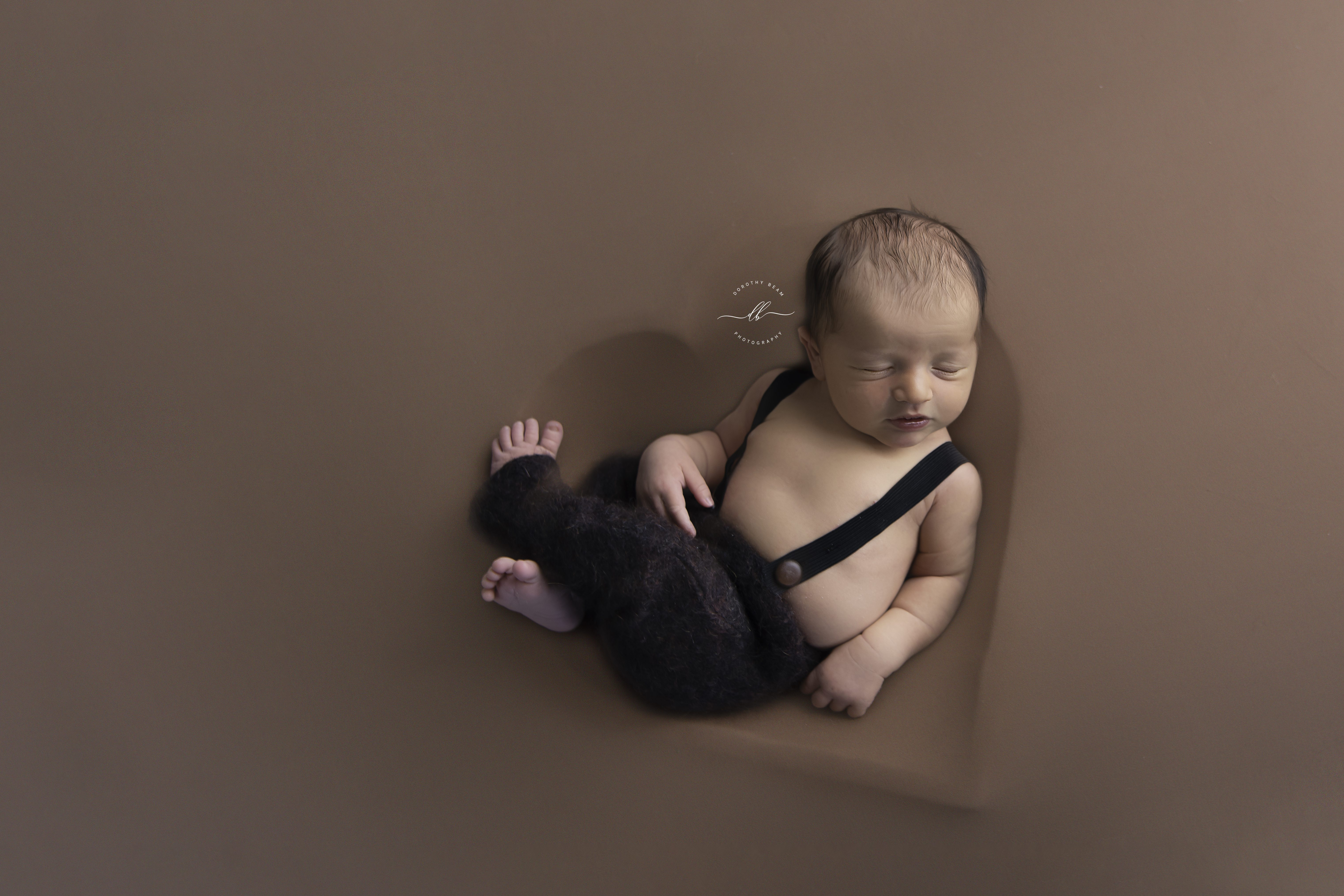 Boy Heart Bowl Brown Overalls Newborn