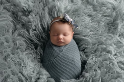 Newborn Baby Girl Blue Fur Dayton Ohio P