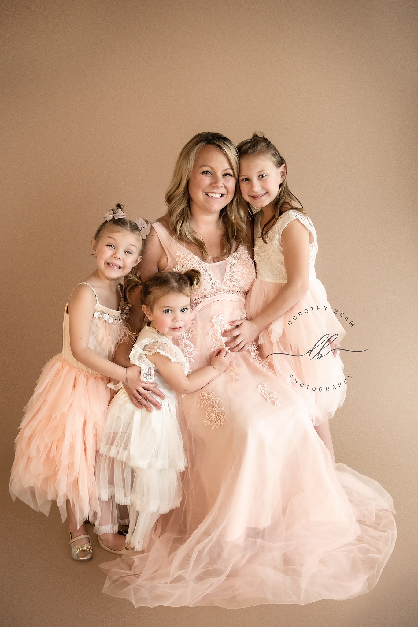 Maternity Pink Gown Studio Dayton Ohio P