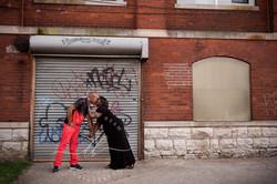 Urban Couple Black Dayton Ohio Photograp