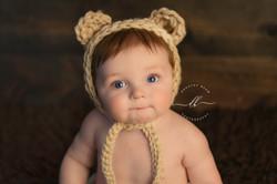 Boy Close Up Bear Wood