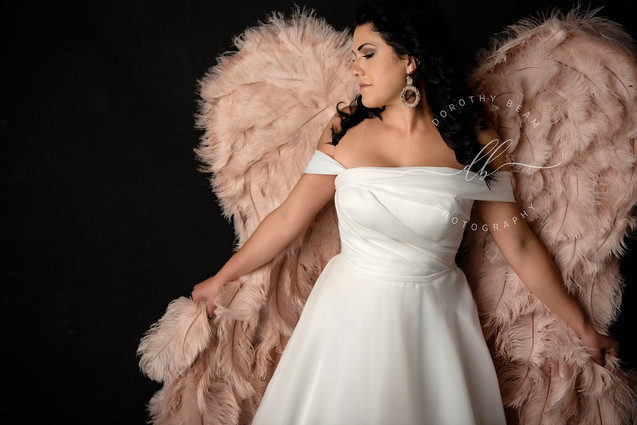 Woman Wedding Dress Blush Wings.JPG
