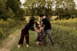 Family of 3 Tickling Walking Field Trees
