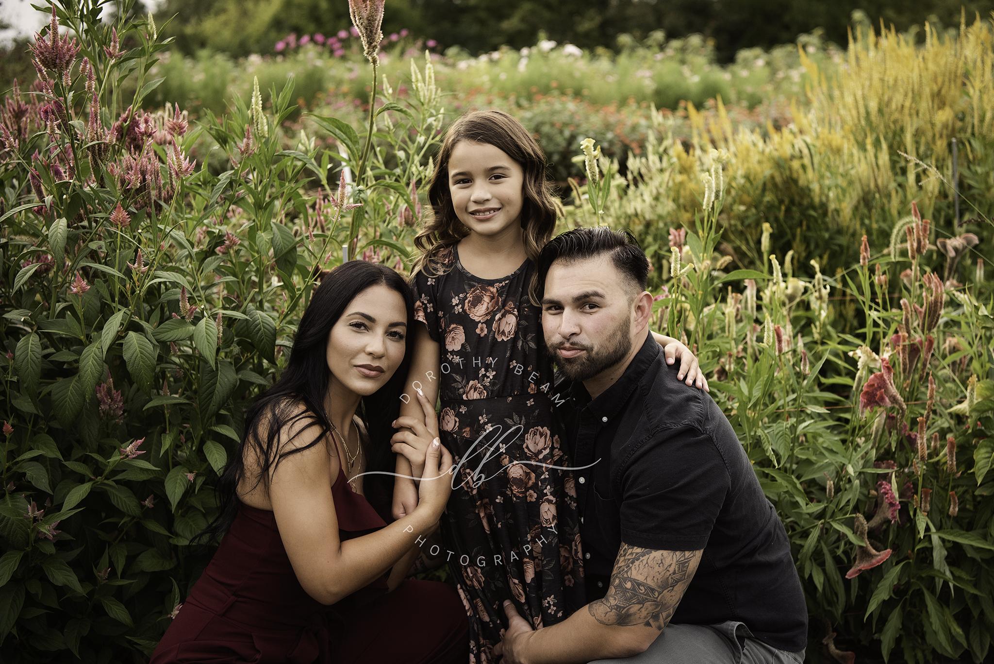 Family of 3 Flower Farm Dayton Ohio