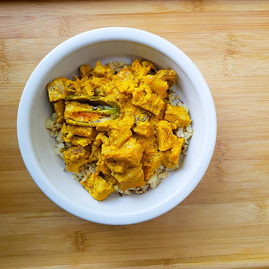 Low Carb Chicken Adobo with Turmeric and Coconut Milk