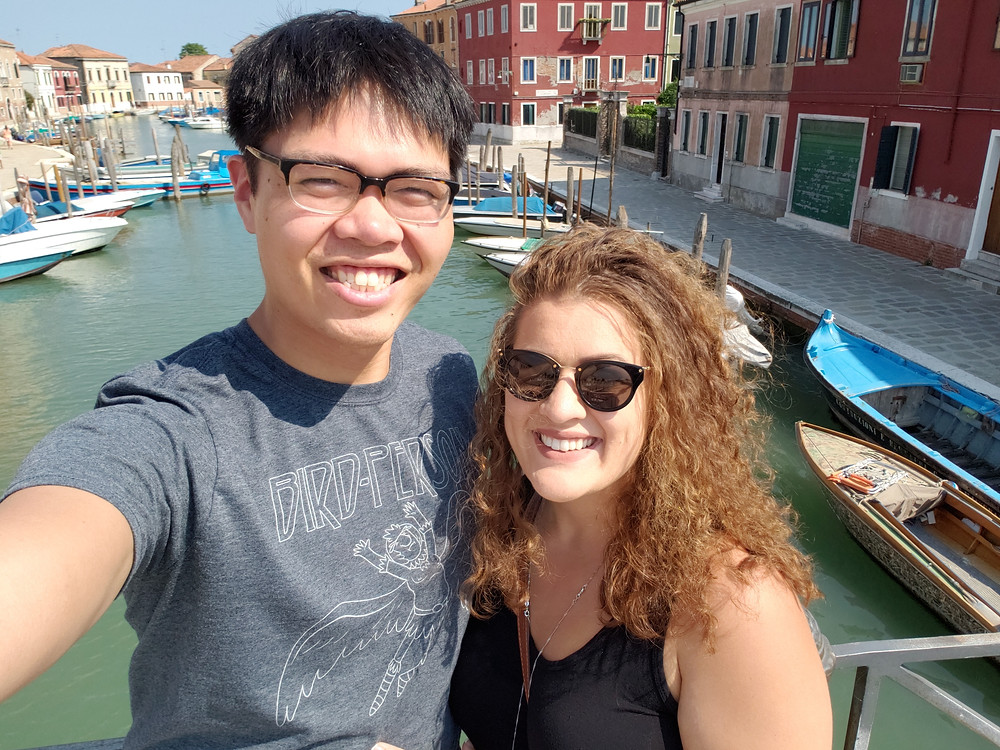Josh and Kaitee in Venice