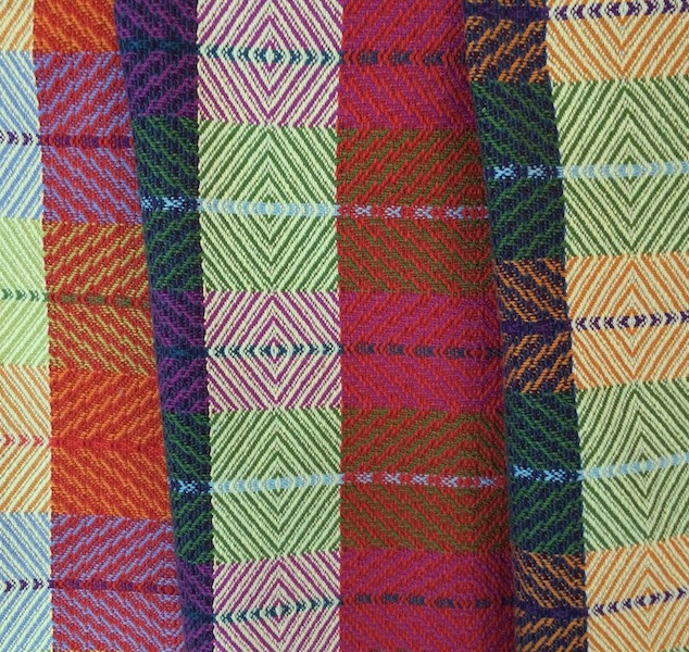 Sample of bright colours
